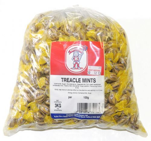 B25 POLY TREACLE MINTS 3KG